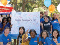 students celebrating founder's day