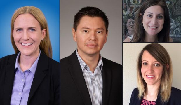 UTA Cares Awardees: Tiffany Kindratt, Julian Rodriguez, Atefe Makhmalbaf, Karen Magruder