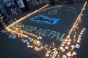 nepal candlelight vigil
