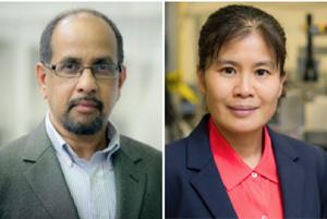 Dr. Muthu Wijesundara, left, and Dr. Haiying Huang