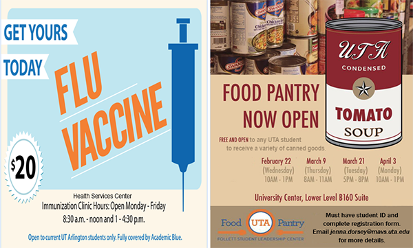 flu vaccine and food pantry