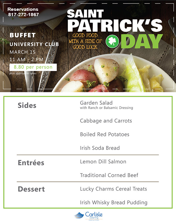 St. Paddy's Day Buffet