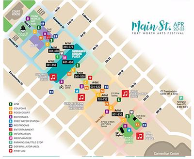 Main St. Arts Festival map