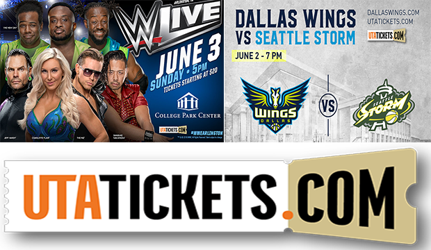 utatickets dallas wings wwe