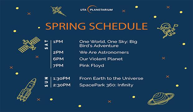 Planetarium spring schedule