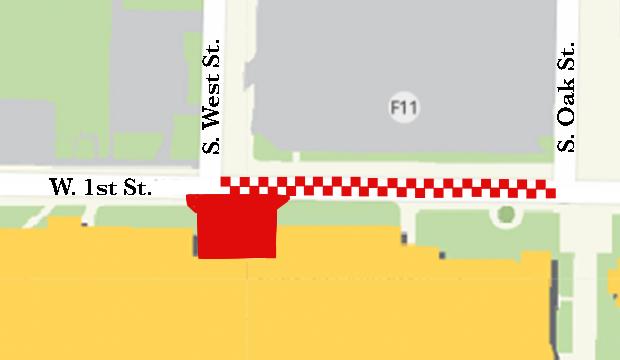 UC Deck Renovation street closures