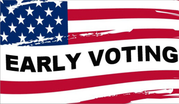early voting flag
