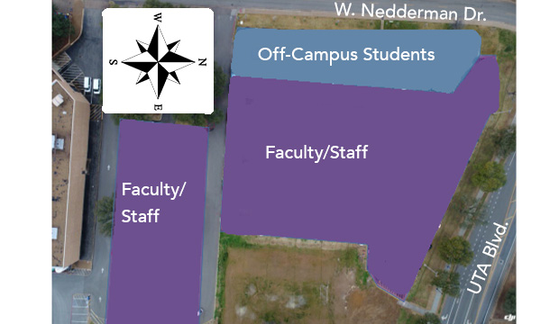 Faculty and Staff parking in Lot 34