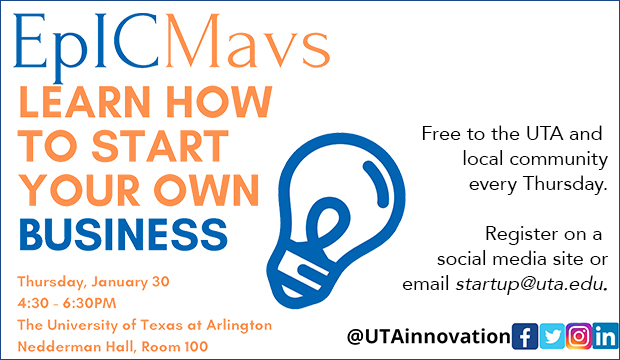 Epic Mavs offer free How To Start Your Own Business seminar on Jan. 30.