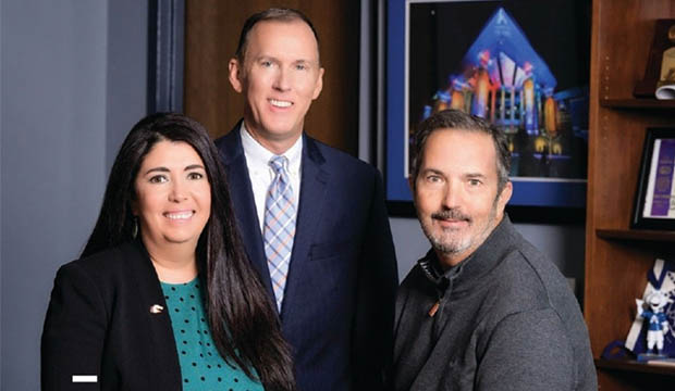 Jim Baker, Russell Warren and Debbie Garcia