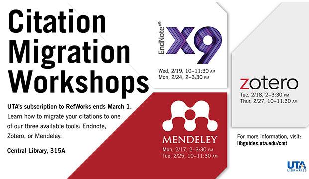 Citation Migration Workshops