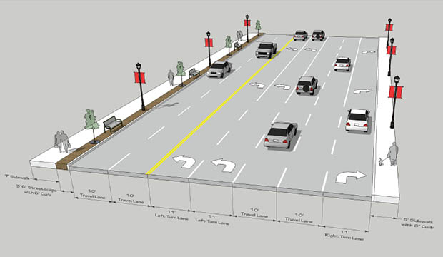 Cooper at Abram streets construction plan