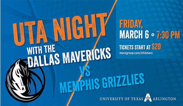 UTA Night with the Dallas Mavericks is March 6