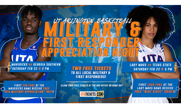 Military and First Responders Appreciation Night is Saturday, Feb. 22.