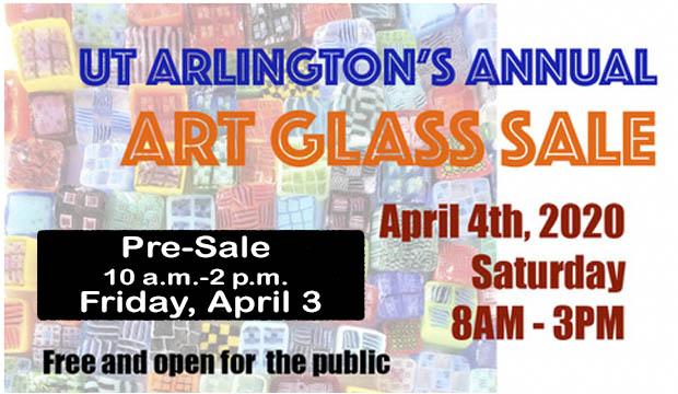 Glass Art Sale is April 3-4