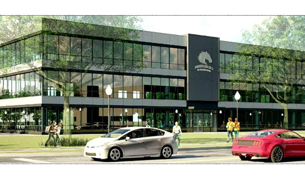 drawing of proposed Administrative and Faculty Support Services building