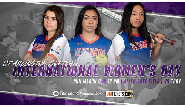 UTA Softball hosts International Women's Day game March 8