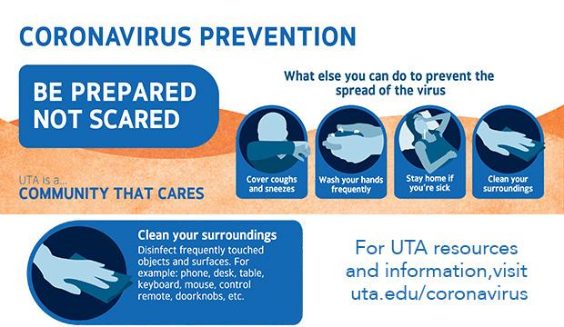 Coronavirus prevention: Clean your surroundings