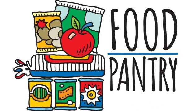 Food Pantry with drawing of non-perishable food items
