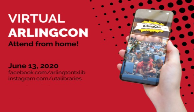 Virtual ArlingCon: Attend from Home. Saturday, June 13