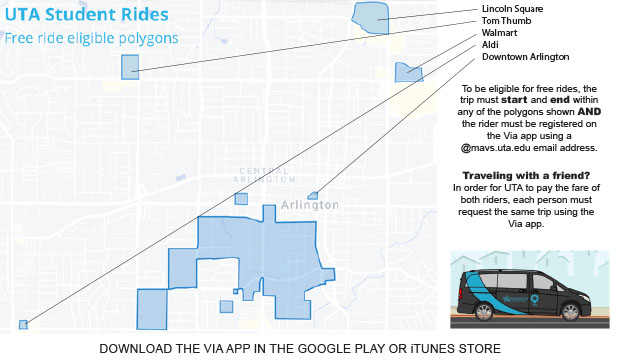Via Rideshare for Students June 15-Aug 16, 2020