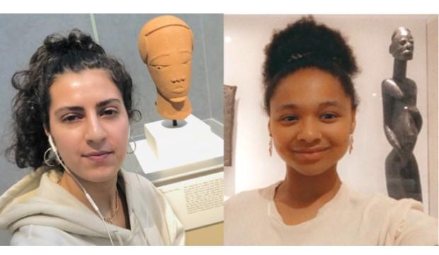 Jessica Khazem (left) and Mya Lewis