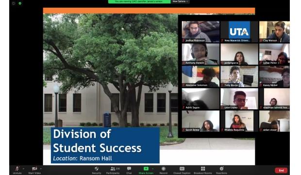 Screen from virtual New Maverick Orientation