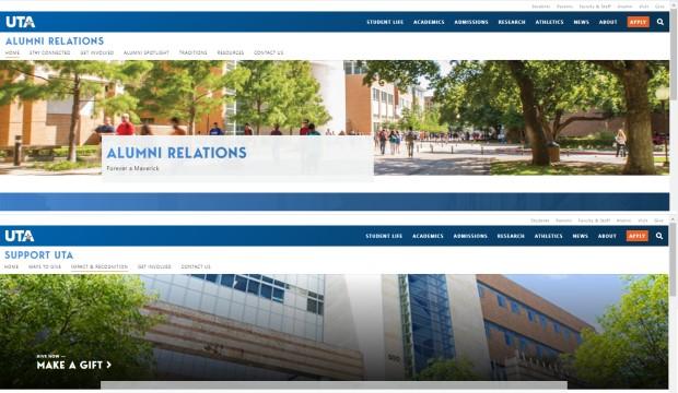 Alumni and Development new websites