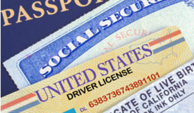 Identification cards, Social Security card, passport, birth certificate