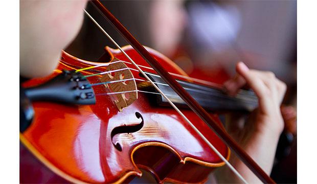 Violn being played