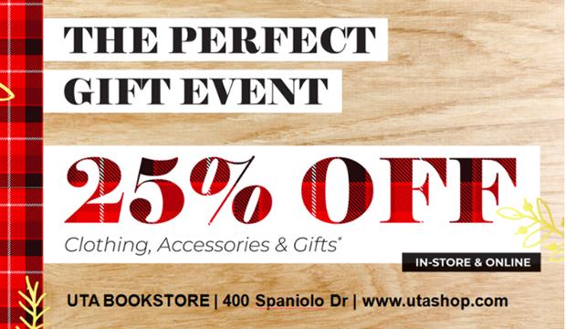 UTA Bookstore sale Nov. 11-17, 2020.