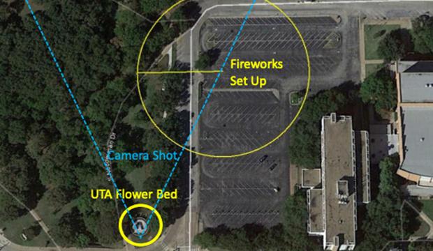 Fireworks at Davis Hall