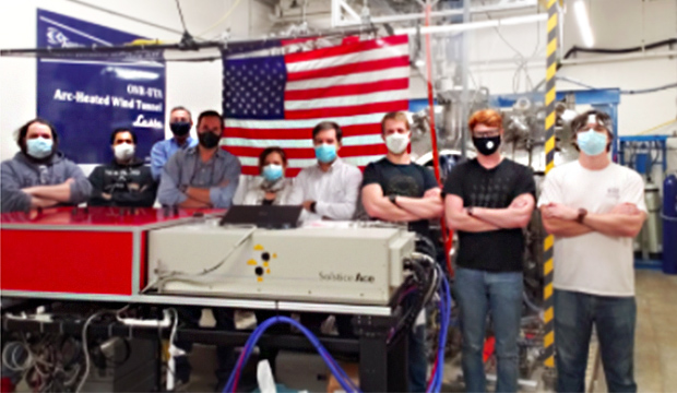 A team from the Aerodynamic Research Center (ARC) at The University of Texas at Arlington has pioneered two cutting-edge measurement techniques in its state-of-the-art arc-jet plasma wind tunnel.text