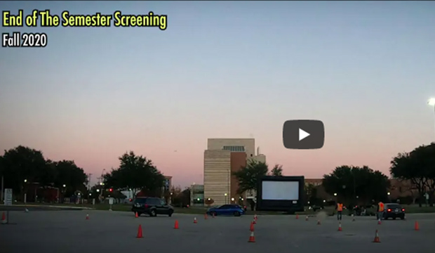 Cinematic Arts student drive-in showcase