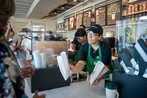 Starbucks at UTA Bookstore