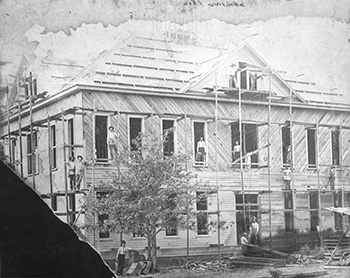 Arlington College's first building under construction