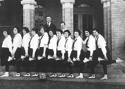 grubbs girls' basketball 1921