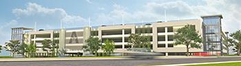 west parking garage