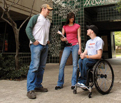 students with wheelchair