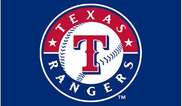 Texas Rangers logo on blue