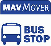 MavMover bus stop logo