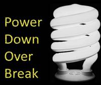 power down over break