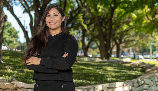 Juana Escobedo Bermudez, a first-generation student from a low-income family.