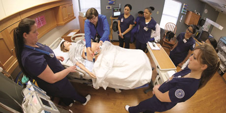 The Smart Hospital's electronic patients are used in the simulations.