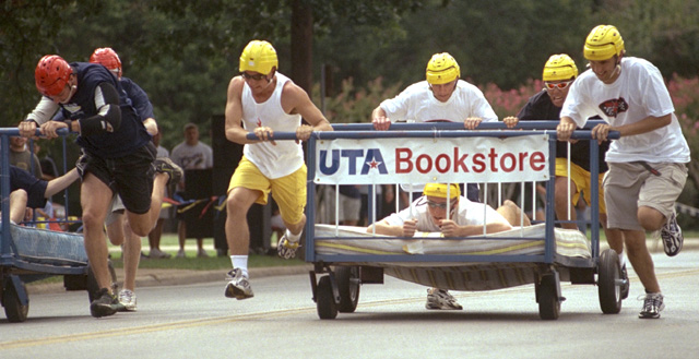 Annual bed races.