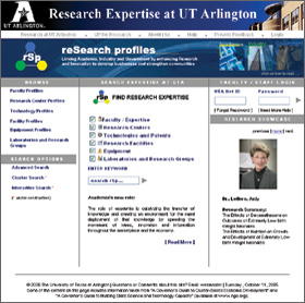 Research web site