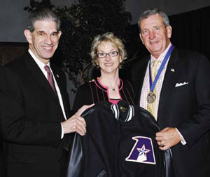 President Spaniolo with Cathy Franks and Gen. Tommy Franks