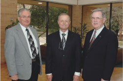 Col. C.A. Potter ('83), Capt. Ronald M. Rendleman ('63) and Lt. Col. David J. Anderson ('78)