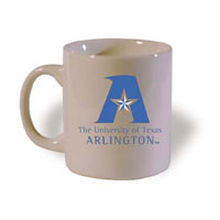mug with new UT Arlington logo
