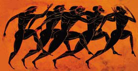 Illustration of ancient Olympics
